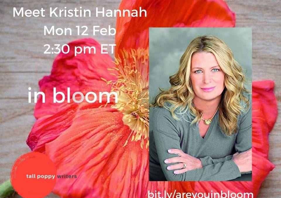 ***Kristin Hannah*** on Bloom *TODAY* at 2:30 PM